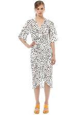 Friend of Audrey Lucie Polka Dot Wrap Dress Size 8