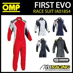 SALE! IA01854 OMP FIRST EVO RACE RALLY SUIT BREATHABLE & FIREPROOF FIA 8856-2000