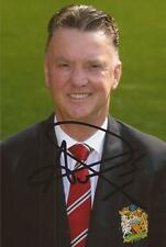 MAN UNITED: LOUIS VAN GAAL SIGNED 6x4 PORTRAIT PHOTO+COA