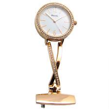 Ravel Nurse or Beauticians Diamante Fob Brooch Uniform Watch Rose Gold R1106.04