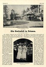 Wohltätigkeits-Gartenfest in Trianon Versailles Gräfin de la Rochefoucauld..1901