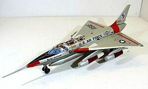 "LOUIS MARX CONVAIR B58 ""HUSTLER"" JET BOMBER,BATTERY OP. VTG TIN,JAPAN"