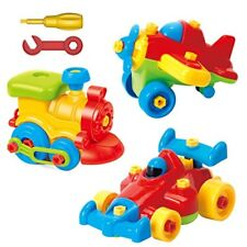 Take Apart Toys - Toy Airplane - Toy Train - Toy Racing Car for kids with tool S
