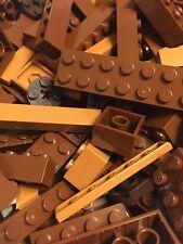 Brown Lego 200+ Piece Lot Brick Plate Tile Slope Detail Star Wars LOTR Potter