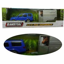 Teamsterz 4 x 4 jouet voiture & voiture blue die cast iincludes cheval new boxed