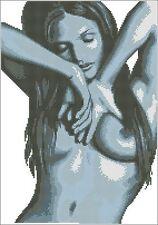 Free shipping needlework 14 counted aida beauty nude cross stitch kit R742
