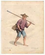 China-Chinesen-Fischer-Fischen Kupferstich Dadley 1800 Ethnologie