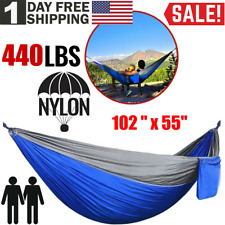 Outdoor Camping Hammock Garden Double Hanging Swing Yard Porch Nylon Chair Bed