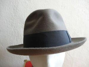 VINTAGE BORSALINO MINK 10 star MEN'S FEDORA HAT ITALY GREY 6 1/2 Rare Vintage