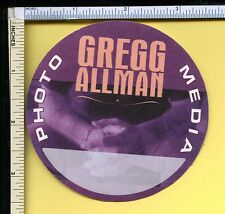 Gregg Allman 1990s Photo Media Cloth Otto Backstage Guest Pass; Round; Purple