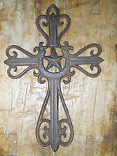 Cast Iron Victorian Style RELIGIOUS CROSS  Rustic Ranch TEXAS Decor #29