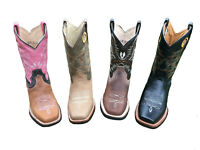 WOMEN'S RODEO COWGIRL BOOTS GENUINE LEATHER Brown Pink Tan Black Bota Vaquera