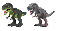 Light Up T-Rex Walking Dinosaur Kids LED Toy Figure With Sounds Real Movement