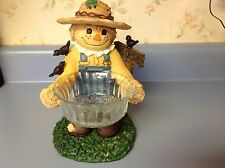 Home and garden party scarecrow candy dish