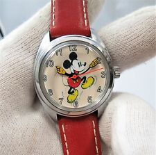 "MICKEY MOUSE, Manual Wind,""Jumping Mickey"" KIDS/ LADIES CHARACTER WATCH,317"