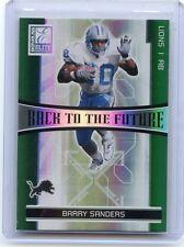 2006 Elite #Btf-6 Barry Sanders & Kevin Jones Back To The Future #897/1000 Lions
