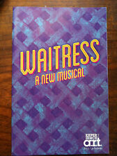WAITRESS musical playbill  program A.R.T Jessie Mueller  Cambridge pre-Broadway
