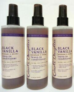 3 Carols Daughter Black Vanilla Moisture & Shine Leave in Conditioner 8oz Spray