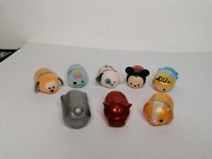 Tsum Tsum Bundle x 8 Figures Disney Job Lot Toys Rare Felt Up Mickey Mouse/Pluto