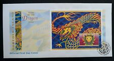 2000 Norfolk Island Year of the Dragon FDC with $2 Minisheet