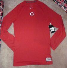 NEW MLB Cincinnati Reds L/S Therma Base Combat NIKE Dri Fit Shirt Men S Small NW