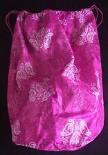 NEW VERA BRADLEY Laundry Bag STAMPED PAISLEY PINK Dorm Drawstring NWT $58
