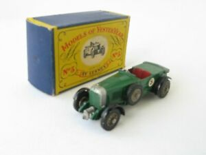 Matchbox Models Of Yesteryear Y-5 1929 Le Mans Bentley Grey Folded Hood Issue 2