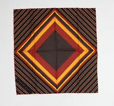 Vintage emanuel ungaro 100% Silk Orange Brown Pink Polka Dots Geometric See Pics
