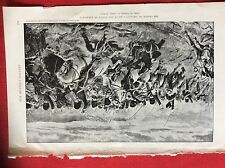 m2o ephemera 1905 book plate the charge of scarlett's 300 at the battle of balac