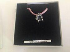 Piloto De Combate Casco fph/pt estaño emblema en una rosa Cable Collar Hecho A Mano