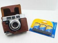 Kodak Motormatic 35F Camera with Ektanar Lens 44mm F/2.8 Vintage & 3 Rolls Film
