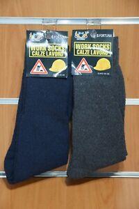 "2 Paia Calzini Calze Corte Lavoro Uomo "" Work Socks"" 40/46 Originali"
