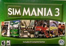 SIM MANIA 3 SIMS PC Video Game SimMania (2005) EA Games  6 GAMES *NEW - Sealed!