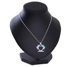 Tree Pendant Necklace Sweater Chain Qk Women Delicate Blue Double Coconut Palm
