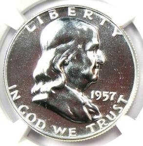 1957 PROOF Franklin Half Dollar 50C Coin - NGC PR69 (PF69) - $685 Value!