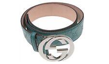 Genuine Gucci Guccissima leather belt with interlock G buckle