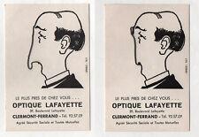 CARTE POSTALE ANIMÉE À SYSTÈME Optique Lafayette Publicitaire Clermont Ferrand