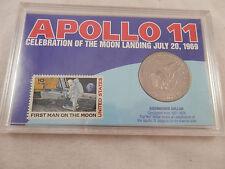 1974  Eisenhower Apollo 11 Dollar & 10 cent  First Man on the Moon Stamp set