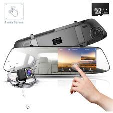 """4.3"""" Car Camera Touch Screen DVR Dashcam Mirror Rearview FHD 1080P Dual Len+32GB"""