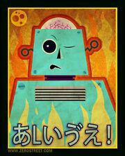 Robot Art Print Lowbrow Kawaii Creepy Cute