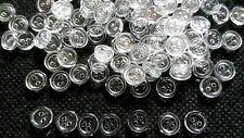100 pcs Transparent White Tiny buttons 2 hole size 6 mm