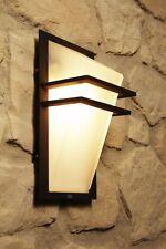 Applique en verre blanc Lampe murale extérieure Lampe de jardin Métal noir 58711