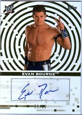 WWE Evan Bourne 2010 Topps Authentic Autograph Card GOLD SN 20 of 25
