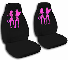 Front set car seat covers with a nice angel & devil design , choose your color