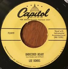 Lee Bonds - Undecided Heart / Okee-Fi-No-Kee 45 - 1963 Capitol Rockabilly PROMO