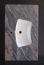 """Single Eye Brow Sink Multicolored Red Granite Top 31""""  For Single Handle Faucet"""