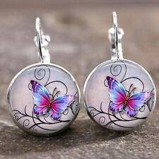 Tile Earrings Butterfly Earrings Tree Earrings Celestial Jewelry Sun (Silver)