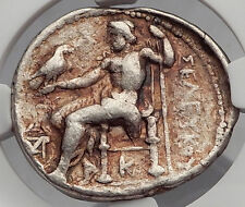 SELEUKOS I Nikator - SELEUKID Ancient Silver Greek Tetradrachm Coin NGC i59985