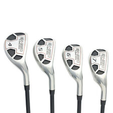 "Men's Powerbilt Golf EX-550 Hybrid Iron Set (4-7) Regular ""R"" Flex Rescue Clubs"