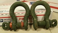 "(2 ea) 1/2"" MIDLAND SHACKLE, CLEVIS, Screw pin, WLL 2 T FREE SHIPPING"